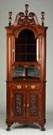 Carved Mahogany Chippendale Style Corner Cupboard