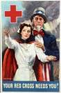James Montgomery Flagg Red Cross Poster