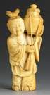 Chinese Carved Ivory Figural Snuff Bottle
