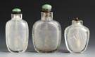 Three Rock Crystal Snuff Bottles