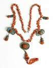 Coral & Enamel Necklace