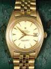 Rolex Oyster Perpetual Date Just 18K Gold Men's Watch