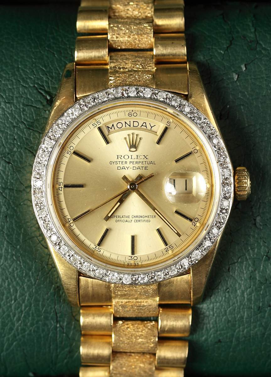 Rolex Oyster Perpetual Day Date 18k With Diamonds