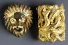 Two 18K Gold Brooches