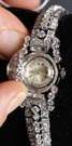 Rolex Platinum & Diamond Covered Wrist Watch