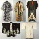 Four Japanese Silk Kimonos & a Winter Robe
