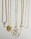 5 Gold Necklaces