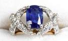 "Tiffany & Co. Schlumberger ""Ribbons"" Sapphire and Diamond Ring"