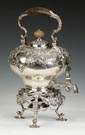 William Dempster, Edinburgh, Scotland, Sterling Silver Kettle on Stand