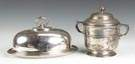 Silver Serving Dome & Wine Cooler