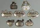 Sterling Silver & Staffordshire Liquor Tags