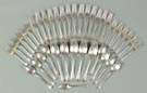 Gorham Sterling Silver Flatware Set - Bead Pattern