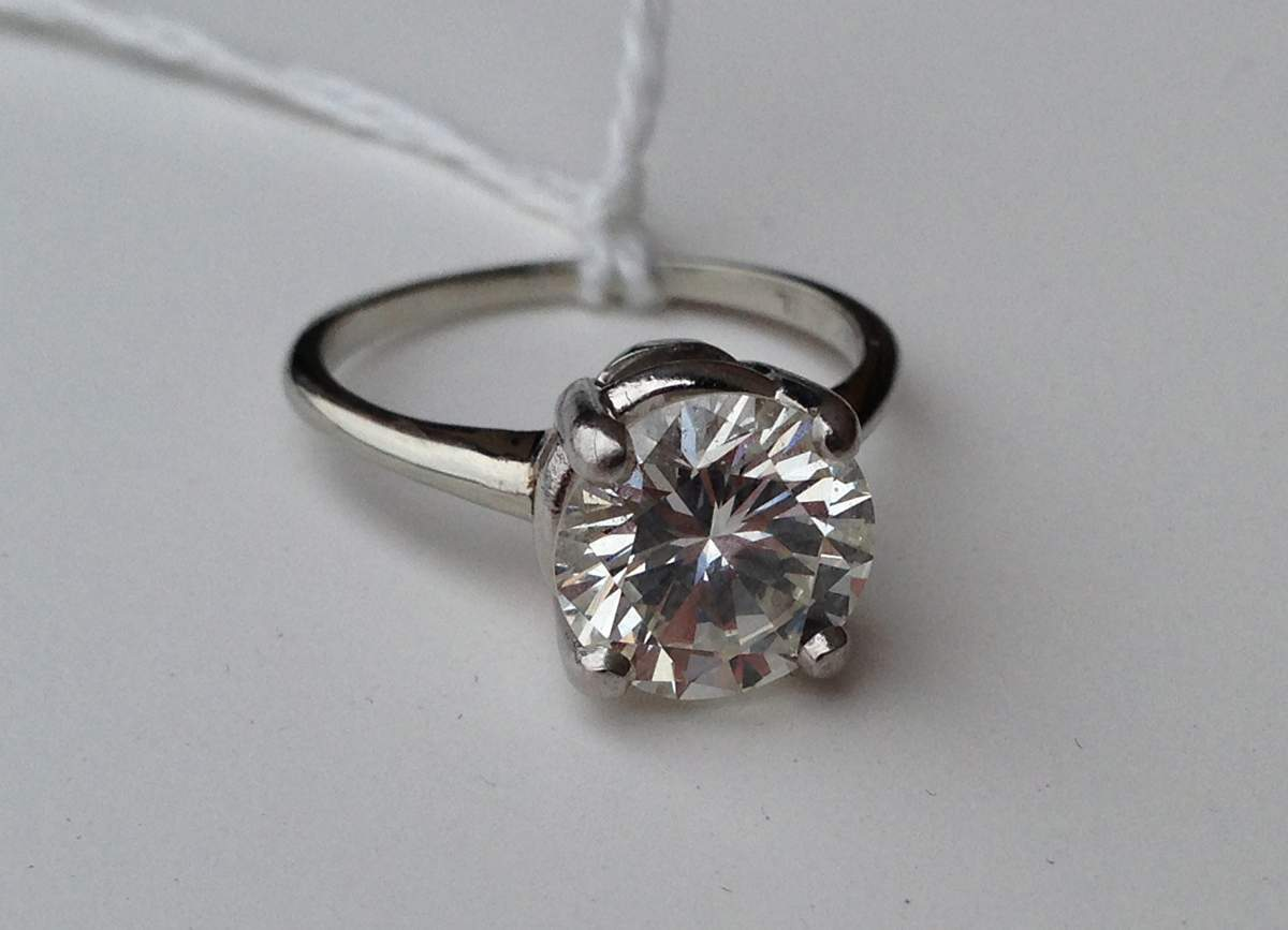 Jabel Solitaire Diamond & 18k White Gold Ring