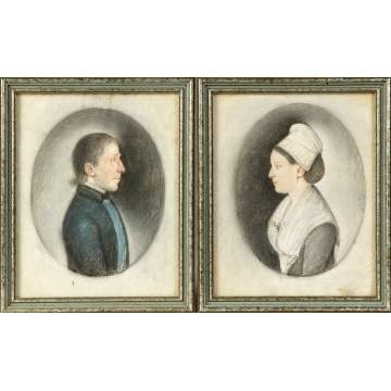 Early 19th Cent. Pastel & Watercolor Miniatures