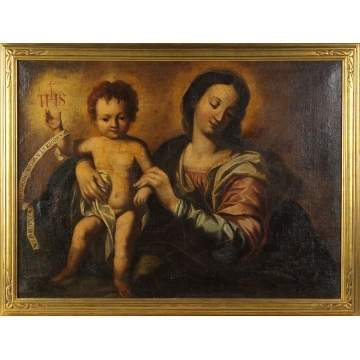 17th/18th Cent. Painting of Madonna & Child