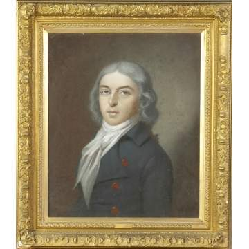 French Pastel Portrait, Son of a Revolutionary War Captain