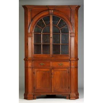 18th Cent. PA 2-Pc. Corner Cupboard