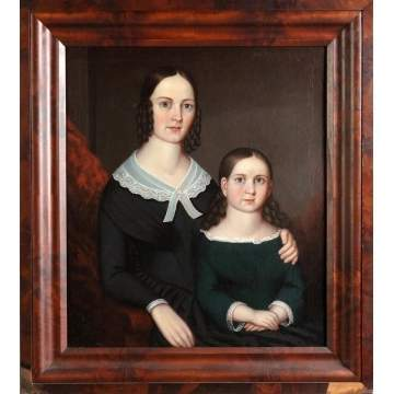 Unsigned Portrait of 2 young girls