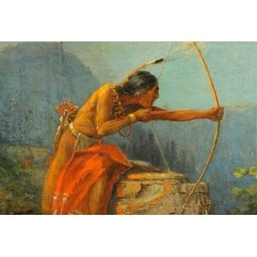 Hector Irving Marlatt (American, 1867-1929) Native American Bow Hunting