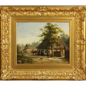 Sgn. Peeters, Cottage Scene