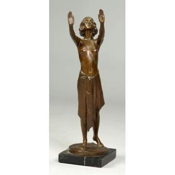 Sgn. Ernst Muller Bronze of woman
