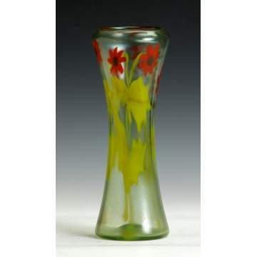 Tiffany Floral Paperweight Vase