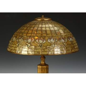 Tiffany Pomegranate Lamp with Dichroic Glass