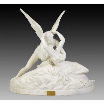 Cupid & Psyche Marble Sculpture