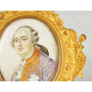 Painting on Ivory of Louis XVI
