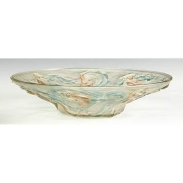 Molded & Etched Art Deco Bowl