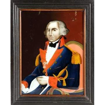 George Washington Reverse Painting on Glass