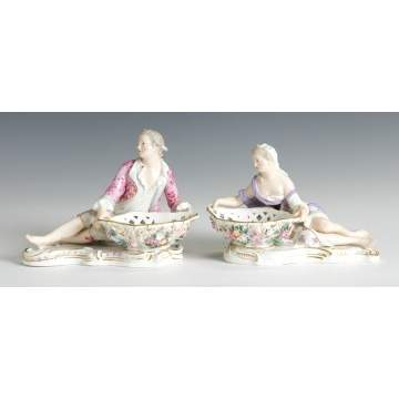 Pair of Meissen Sweet Meat Dishes