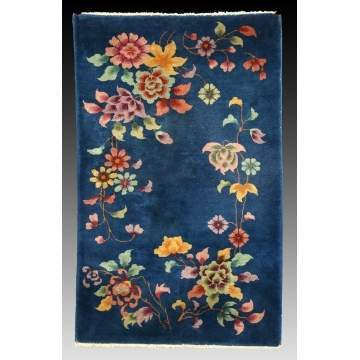 Chinese Rug w/Flowers