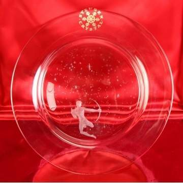 Steuben Crystal Star Plate - Orion