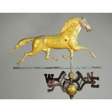 Horse Weathervane w/Zinc Head