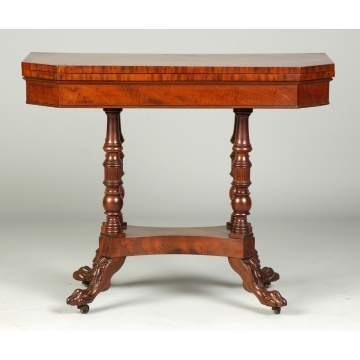 Fine NY Federal Mahogany Card Table