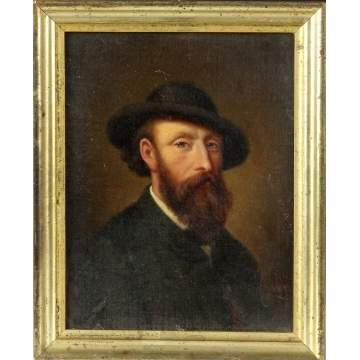 Portrait of a bearded man w/hat