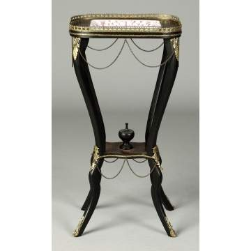 Victorian Ebonized & Inlaid Stand