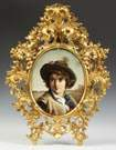 KPM Hand Painted Porcelain Plaque of a young boy