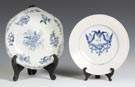 Worcester Bowl & Decorated Bristol Plate