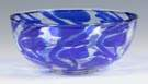 Frederick Carder Clear & Cobalt Blue Intarsia Bowl