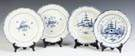 Blue & White Feather Edge Creamware