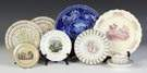 Group of Early Staffordshire Plates & Cup/Saucer