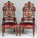 Walnut Victorian Side Chairs