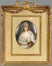 KPM Painting on Porcelain, Young woman w/veil