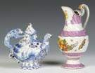 Delft Teapot & Pitcher