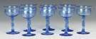 Set of Eight Steuben French Blue Champagne Goblets