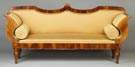 Biedermeier Figured Walnut Sofa