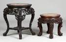Chinese Carved Hardwood Stands