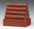 Chinese Red Lacquer Cinnabar Scroll Case